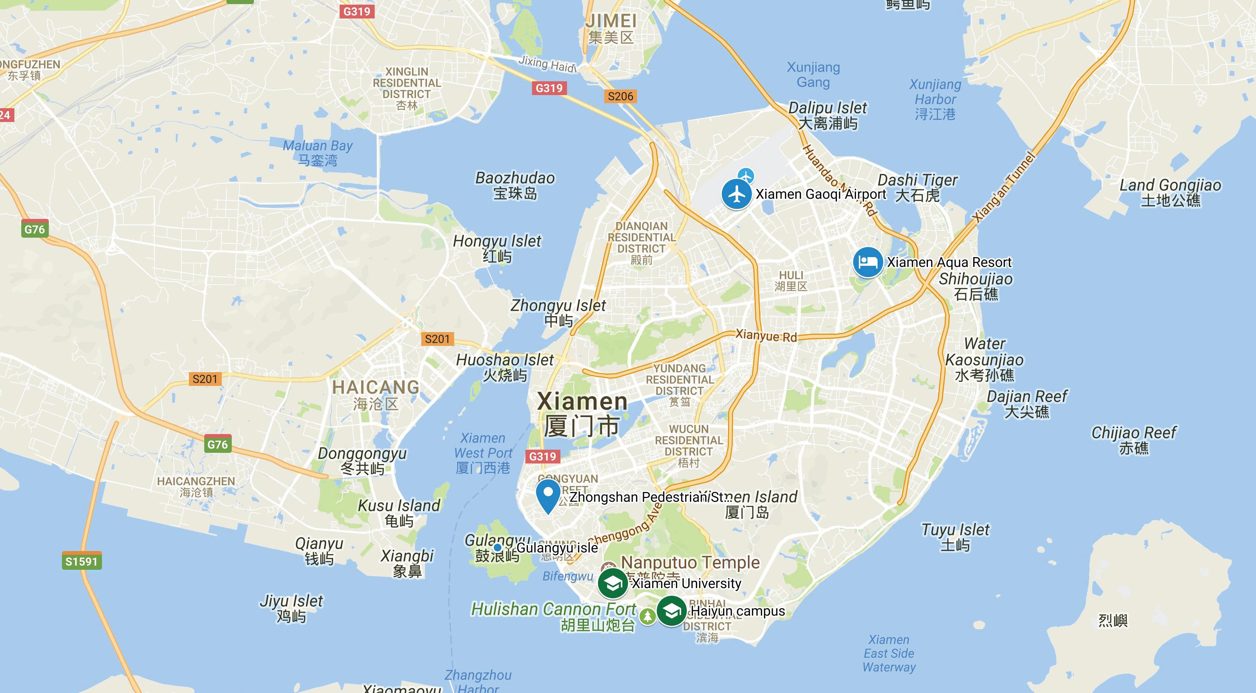 Xiamen China Map.Travel Info Custipen